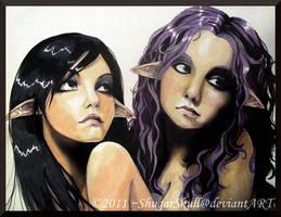 Yulia and Lena by ShugarSketch