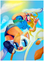 Fionna and Cake: ADVENTURE TIME! by ShugarSketch
