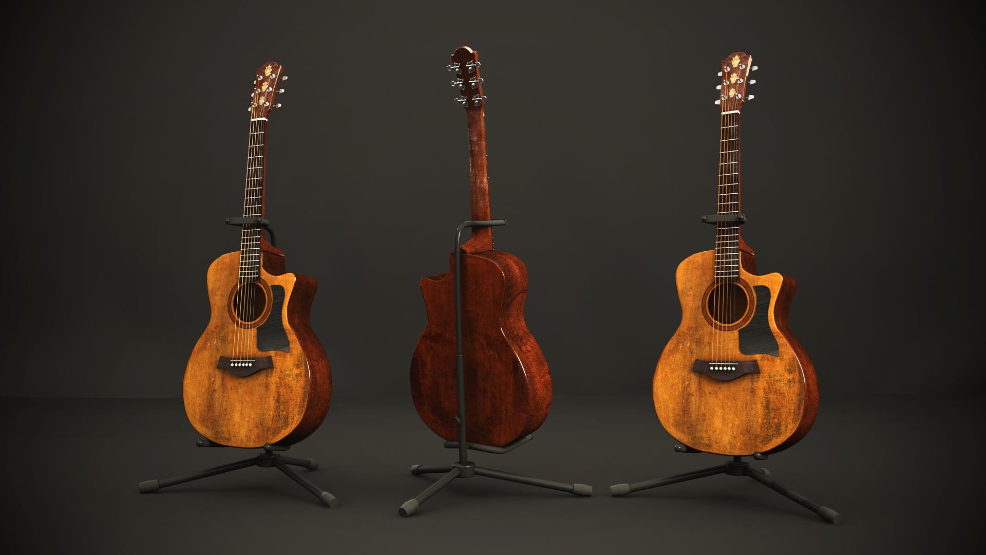 old acoustic guitar by cpaschall on deviantart. Black Bedroom Furniture Sets. Home Design Ideas