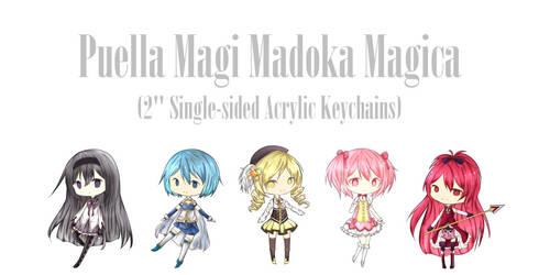 Madoka Magica Keychains by Keimiu