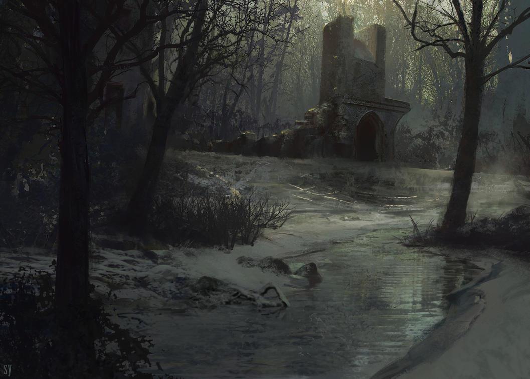 Frozen Swamp by seanyangart