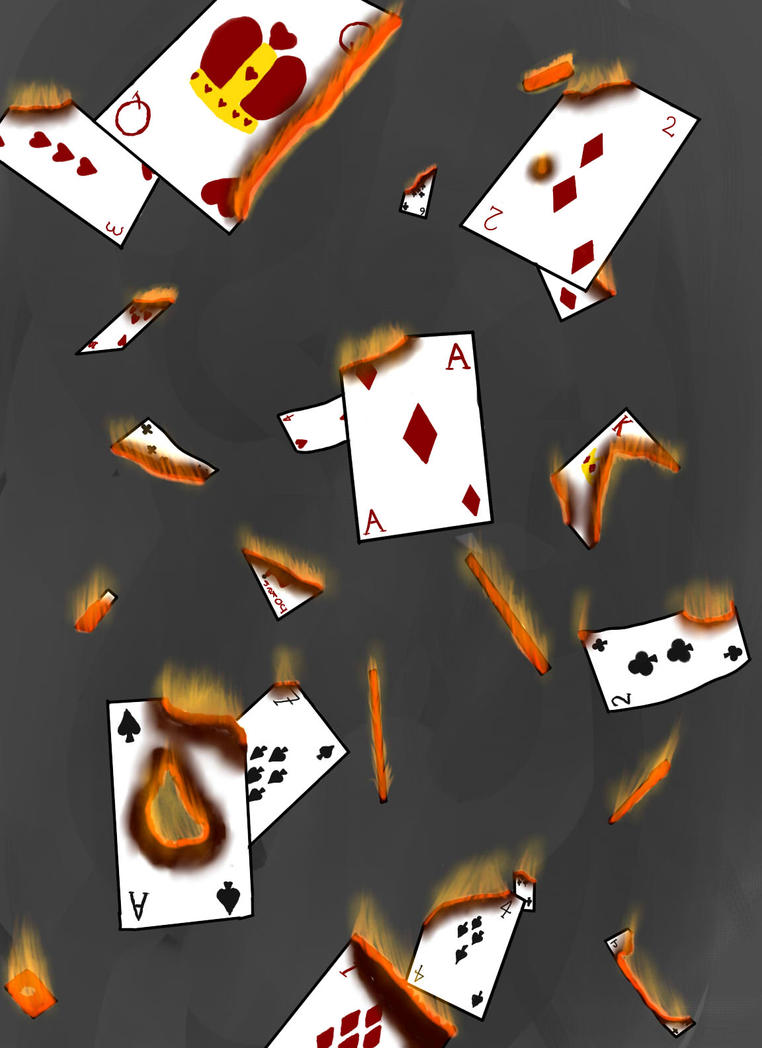 Burning House of Cards by Villanseacow