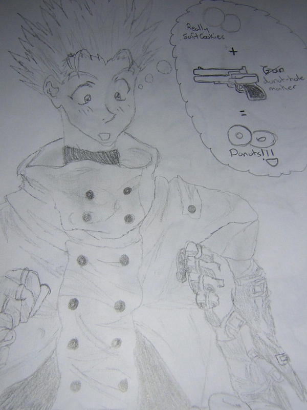 Vash The Stampede Donuts By Fiorx On Deviantart