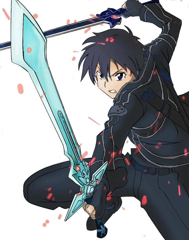 Kirito - Dual Blades by Paranormal-Patricia