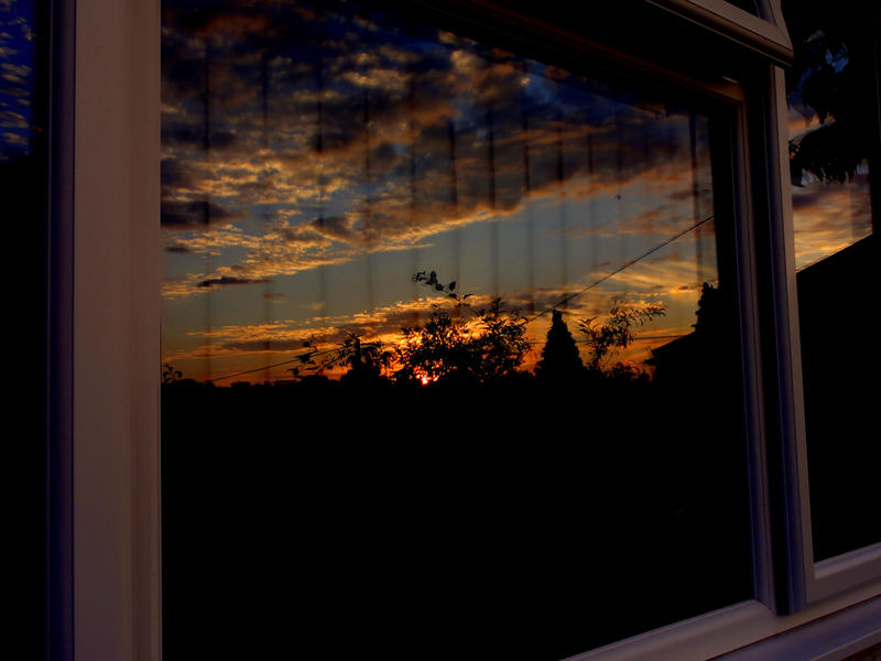 Sunset Through My Window by Kaz-D
