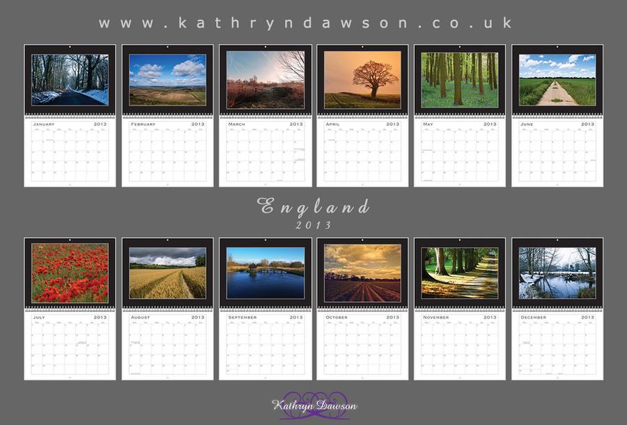 2013 Calendar: England Inside by Kaz-D