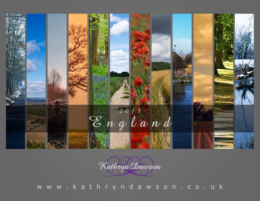 2013 Calendar: England by Kaz-D