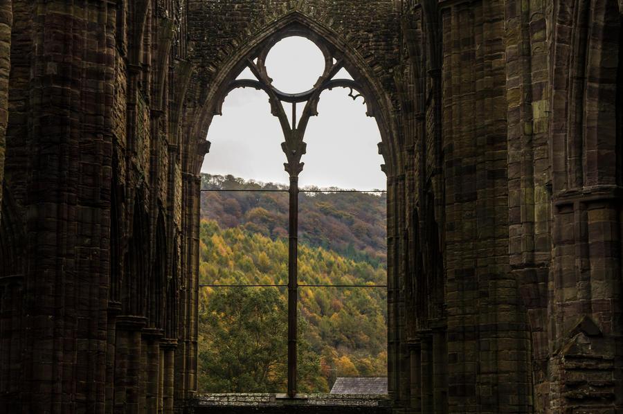 Day 304: Tintern Abbey in Autumn by Kaz-D