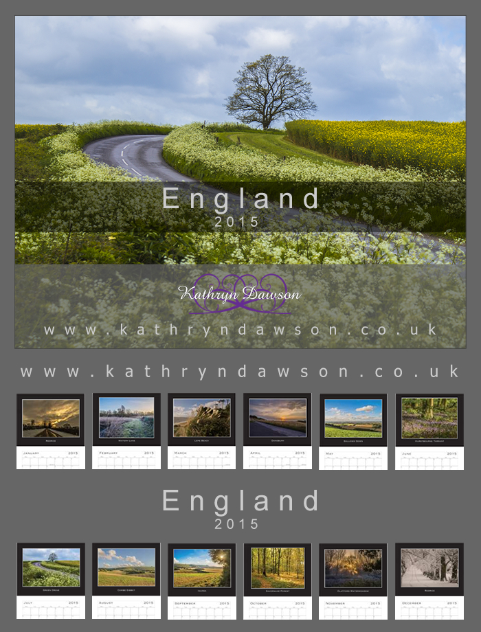 2015 England Calendars by Kaz-D