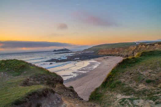 Sunset over Cornwall