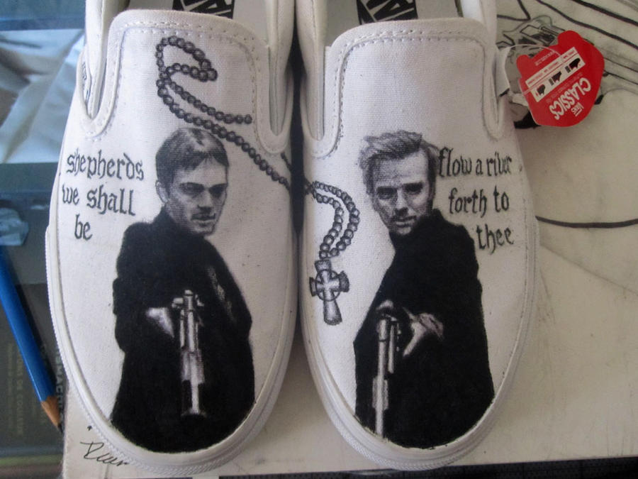 Boondock Saints on Vans shoes. by RockabillyReese on DeviantArt