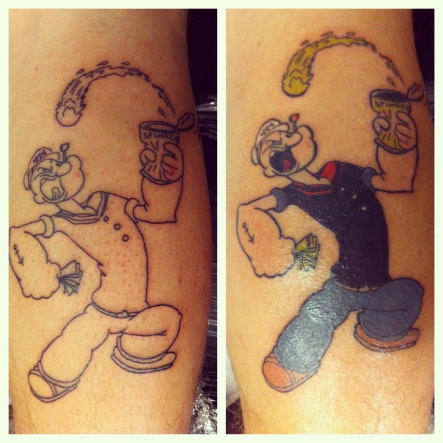 Tattoo Popeye: Popeye Tattoo By RockabillyReese On DeviantArt