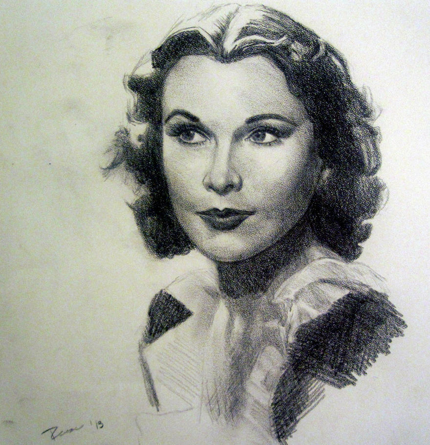 Vivien Leigh Portrait by RockabillyReese