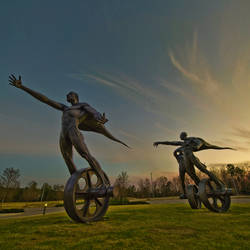 unicyclists by icondigital