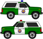 1980 Ford Bronco Third Generation CBCPD Police SUV