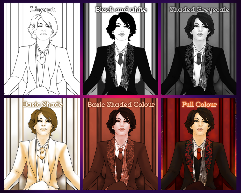 Commission Colour Options by Farthingale