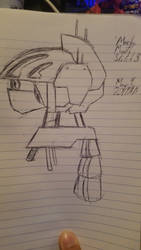 Mecha Bi-Month May Sketch 2 by AlexGamma