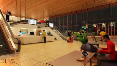 Pokemon Center Reimagined- Interior by edwinputra