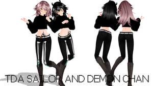 TDA Sailor and Demon Chan (+DL) by ApushMiku123