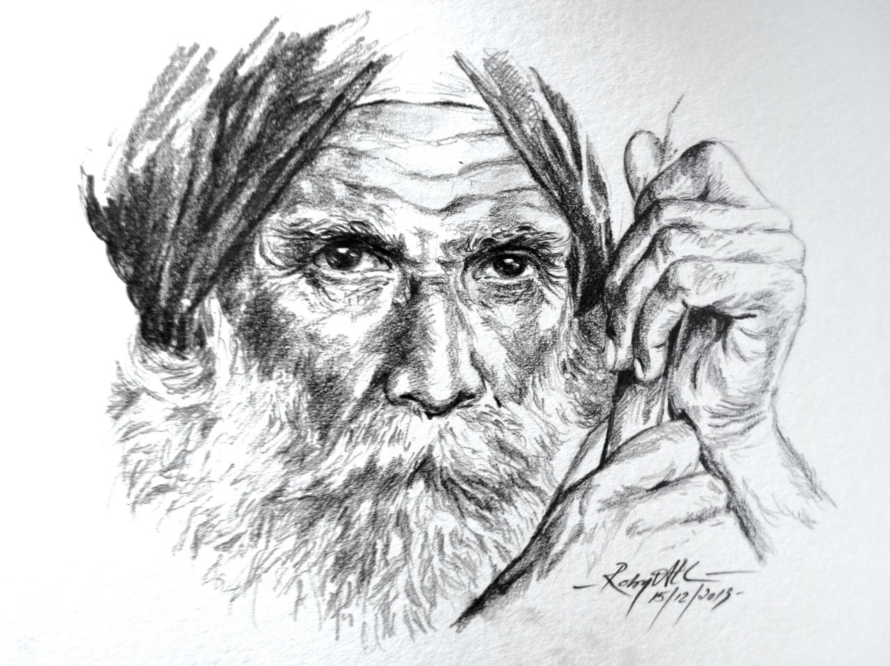 Old-man My Pencil Drawing By Lotusdigitalworks On DeviantArt
