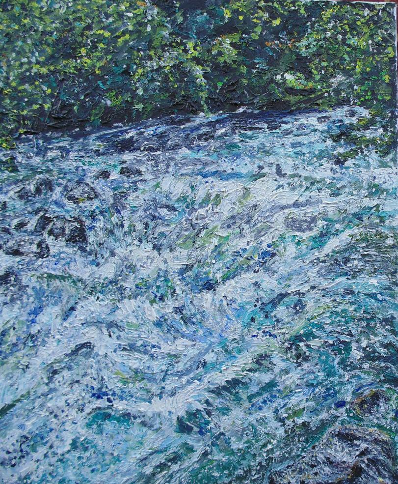 River in Dolomites by brionyjones