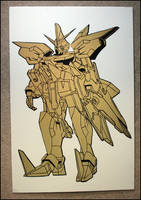 Gold Gundam by truemarmalade