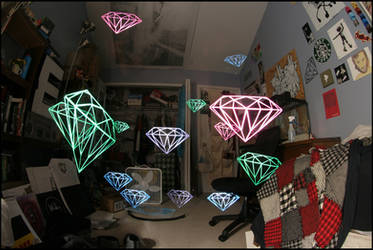 Diamonds Light Stencil Colors by truemarmalade