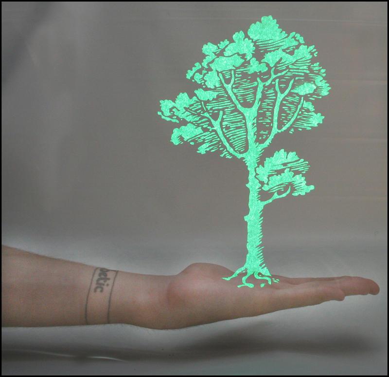 Hand Tree Light Stencil by truemarmalade