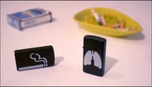 Smoking Lungs Zippo by truemarmalade