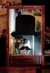 Mustached Gentleman Mirror by truemarmalade