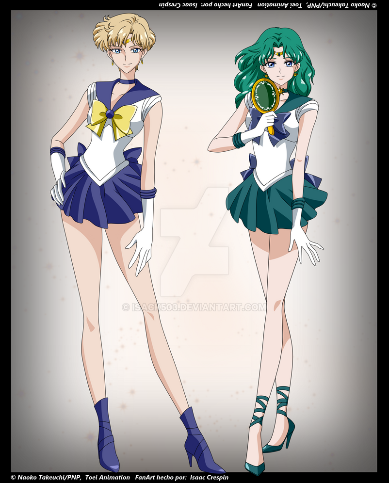 Sailor Moon Crystal- Sailor Uranus and Neptune by Isack503