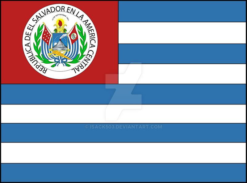 Bandera de El Salvador 1965-1912 by Isack503