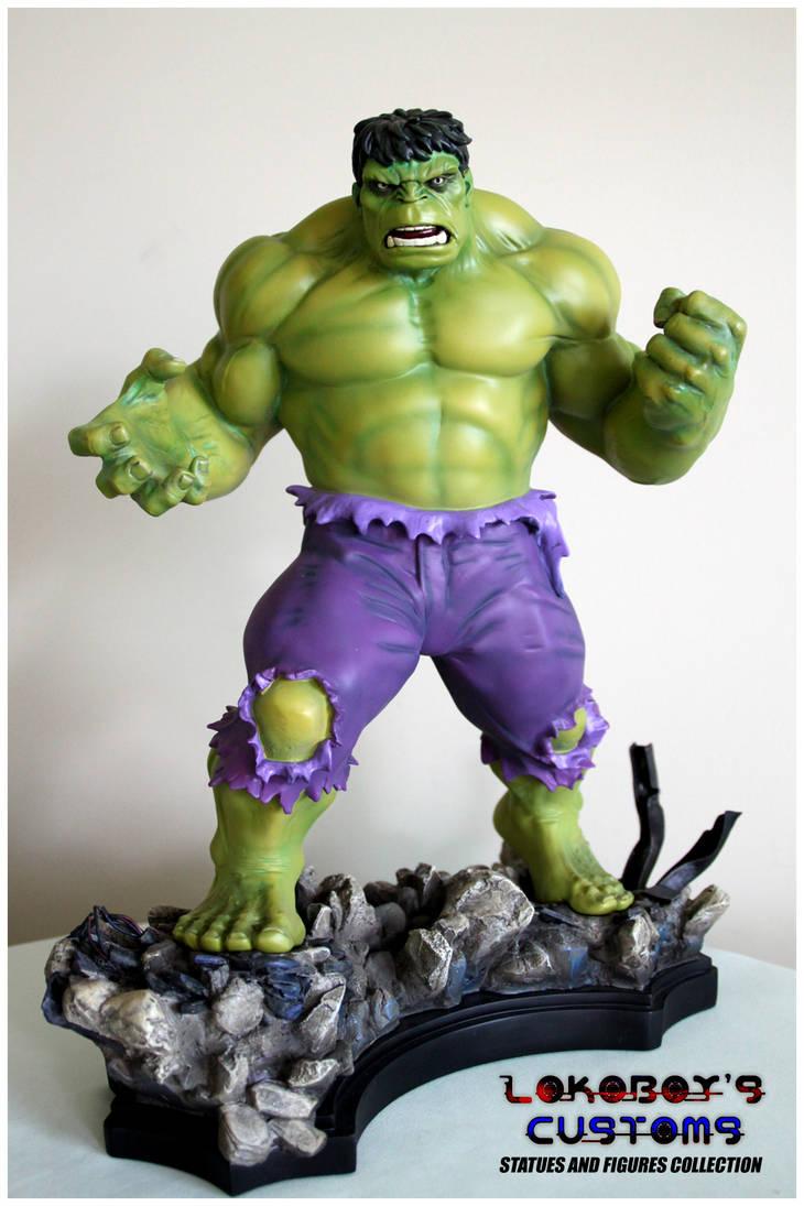 Bowen Retro Green Hulk Statue by Lokoboys on DeviantArt