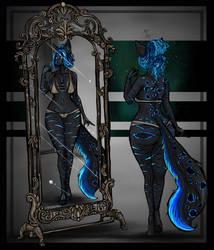 Bioluminescent mirror pt 3 by AtropaGrimm