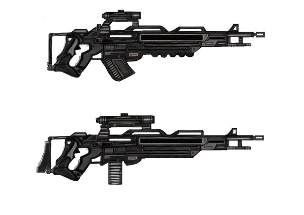 Futuristic machine guns by Zander-T on DeviantArt