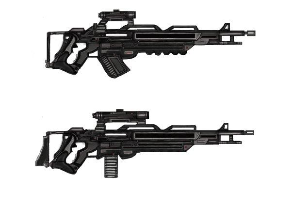 Futuristic machine guns by Zander-T on DeviantArt