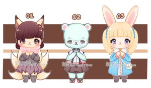 OPEN | SET PRICE 3/3 CHUBB ANTHRO ADOPTS by Atelier-Lune