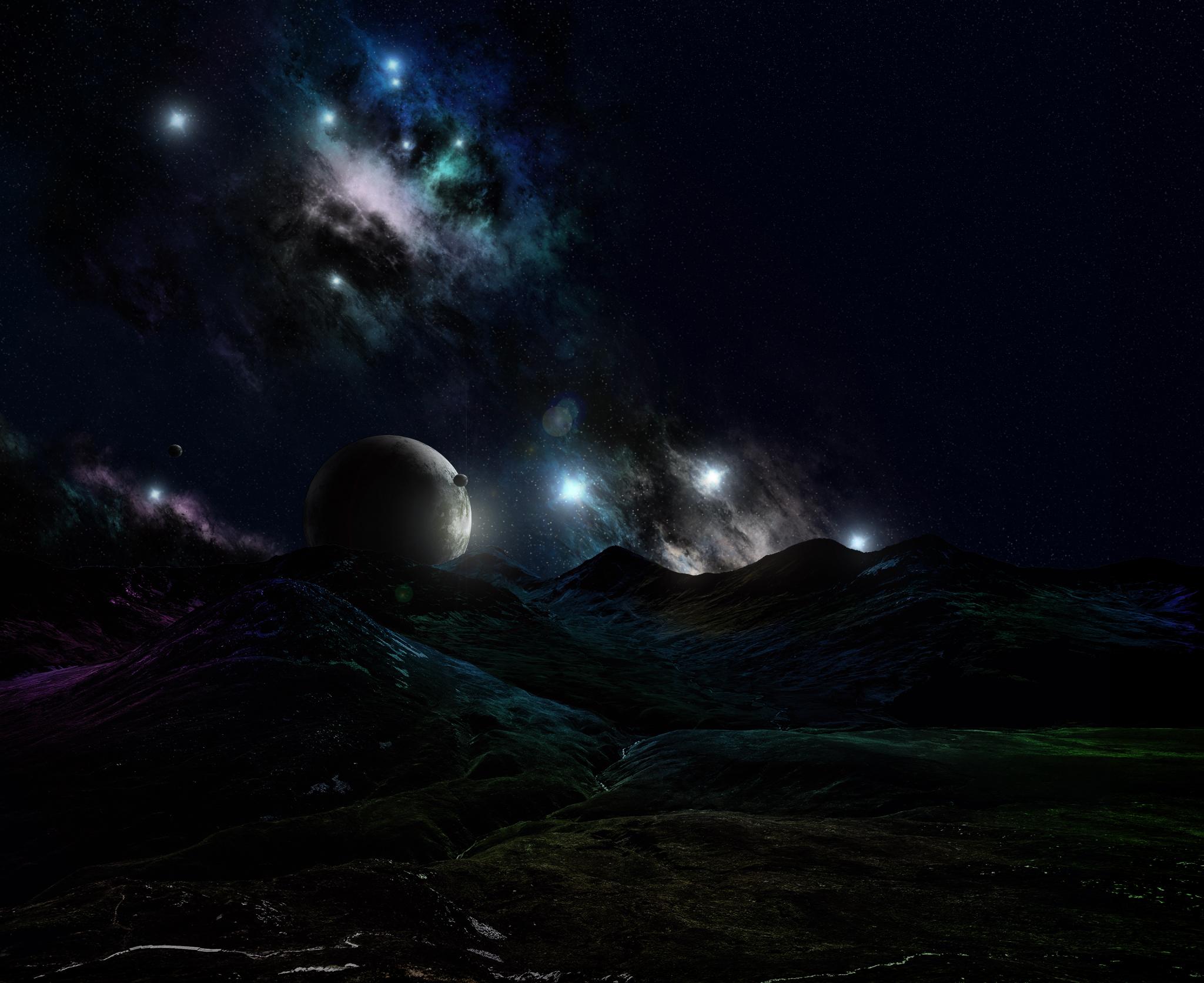 Nebula 2 - with mountains