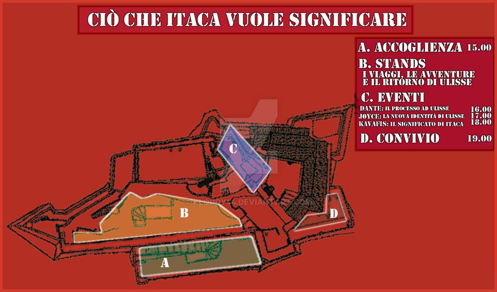 Cio' che Itaca vuol significare - Dentro Volantino by Kloddy44