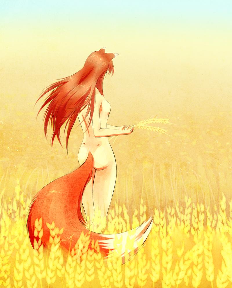 Spice and Wolf: Wheat field. by Murasaki-no-Orenji
