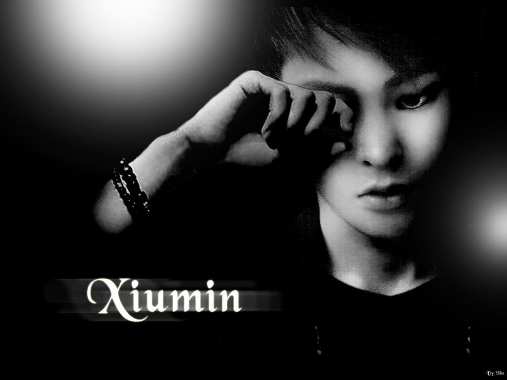Xiumin 2013 Wolf Xiumin Black and White