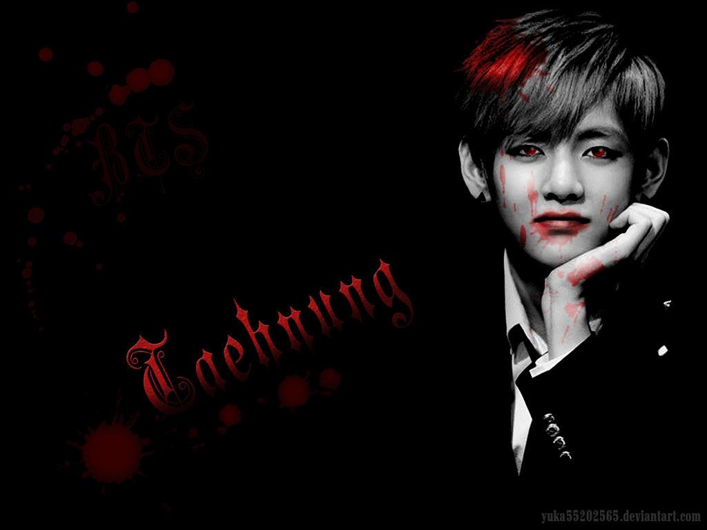 Taehyung Vampire Wallpaper by yuka55202565 on DeviantArt