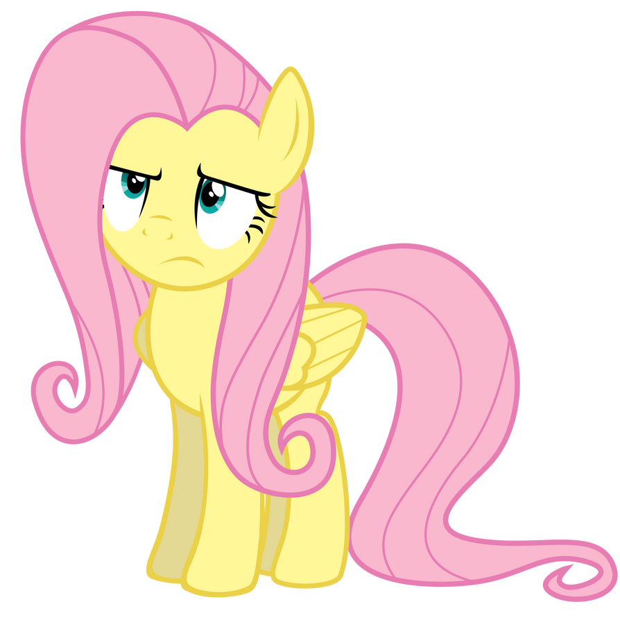 Unamused Fluttershy by Yanoda