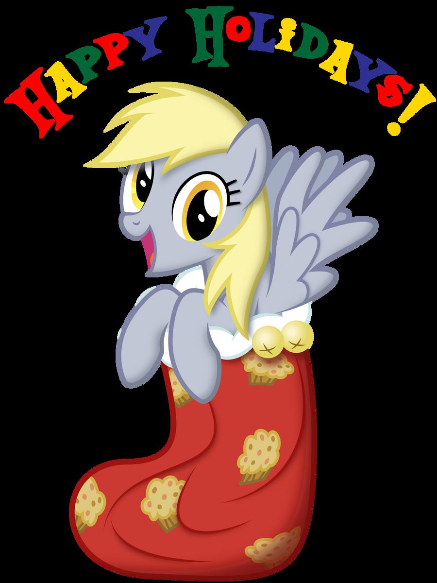 Happy Holidays from Derpy by Yanoda
