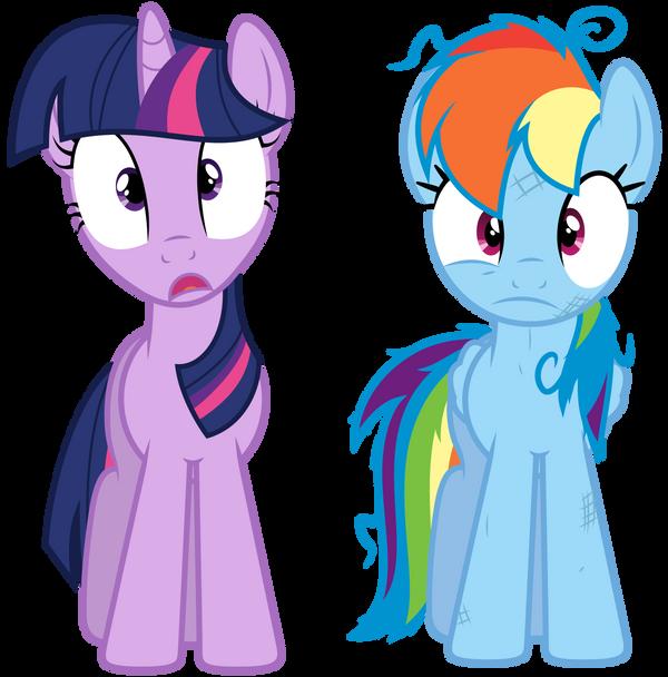 Image - Sunset Shimmer and Luna shocked EG.png - My Little