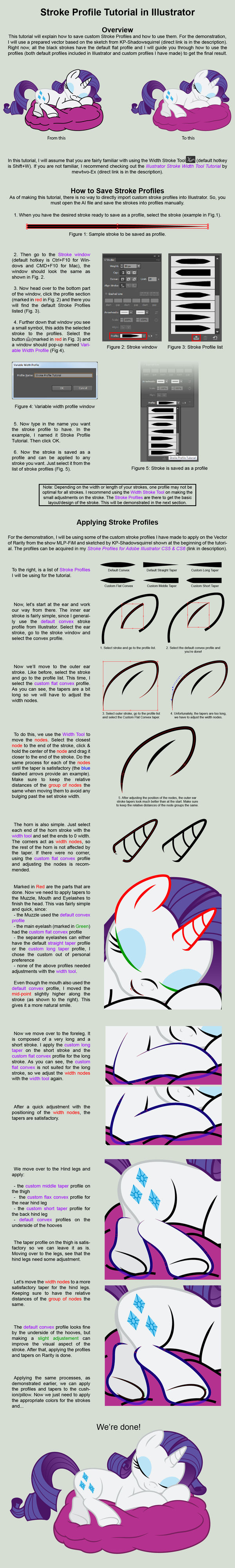 Stroke Profile Tutorial for Illustrator CS5 and Up by Yanoda