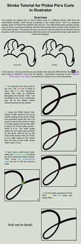 Illustrator Stroke Tutorial for Pinkie Pie's Curls by Yanoda