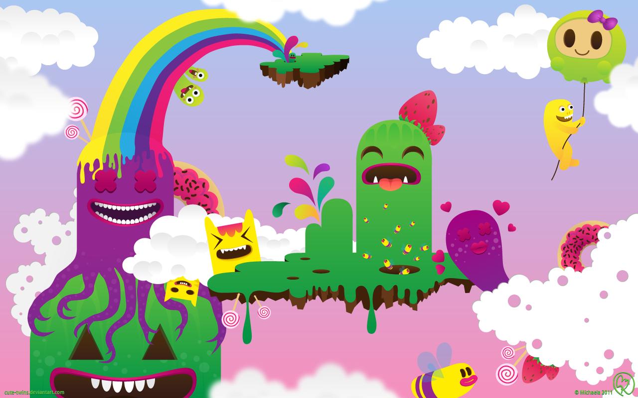 cartoon Monster In Love Wallpaper : Monsterland wallpaper by cute-twins on DeviantArt