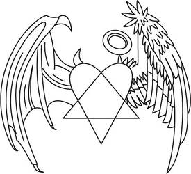 Heartagram Demon-Angel wings