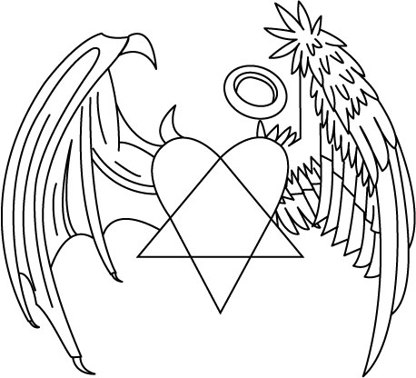 Heartagram Tatto on Heartagram Demon Angel Wings By  Dudeicles On Deviantart